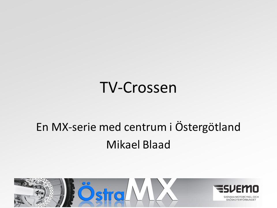 TV-Crossen En MX-serie med centrum i Östergötland Mikael Blaad