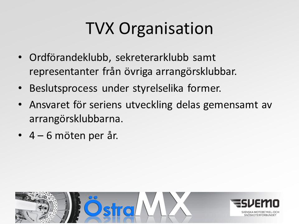 TVX Organisation Ordförandeklubb, sekreterarklubb samt representanter från övriga arrangörsklubbar.