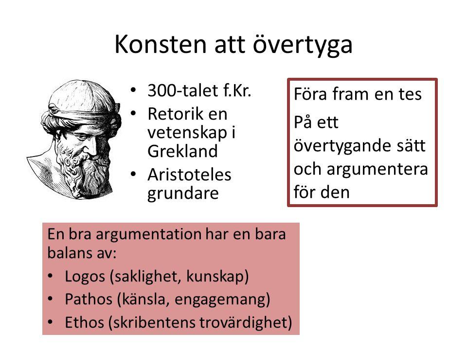 Konsten att övertyga 300-talet f.Kr.