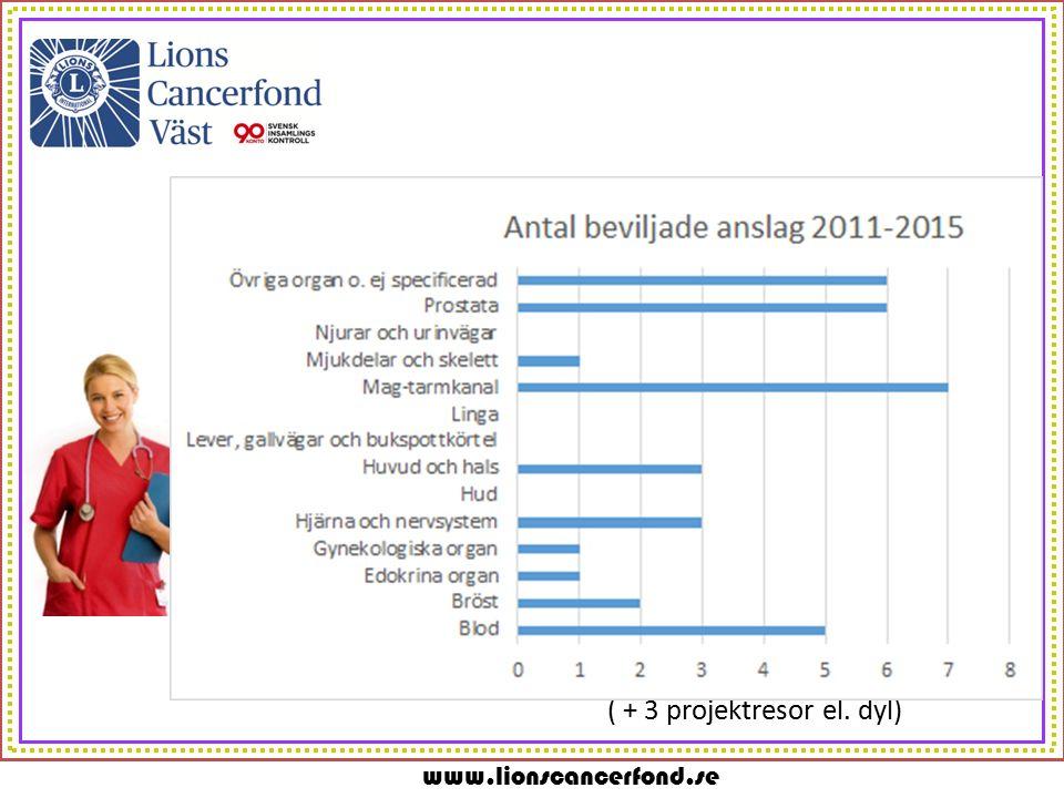 www.lionscancerfond.se ( + 3 projektresor el. dyl)