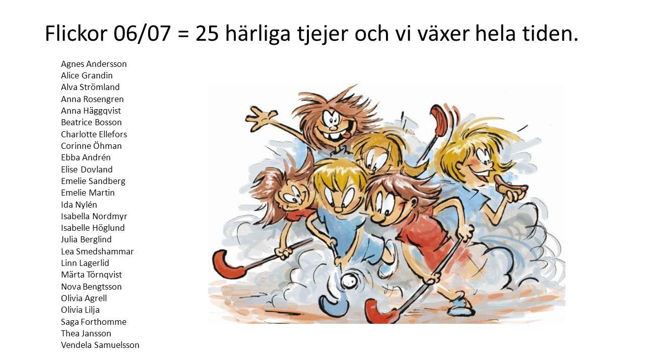 Flickor 06/07 = 25 härliga tjejer och vi växer hela tiden.