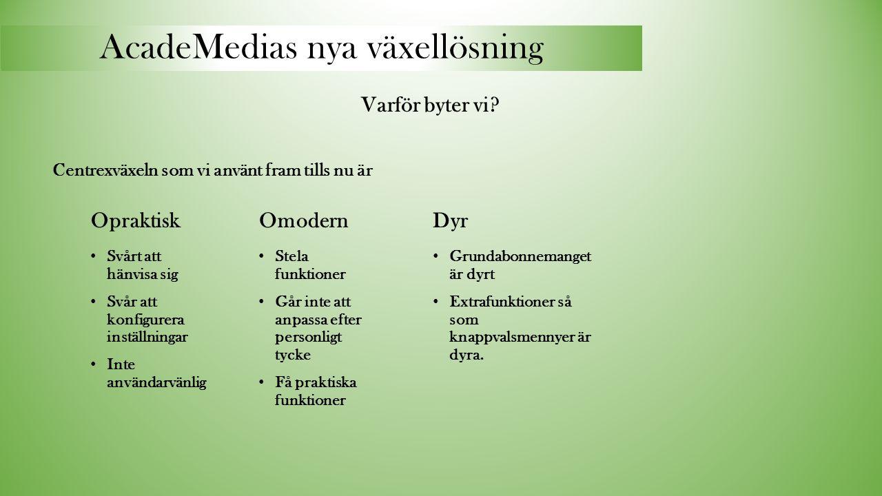 AcadeMedias nya växellösning Varför byter vi.