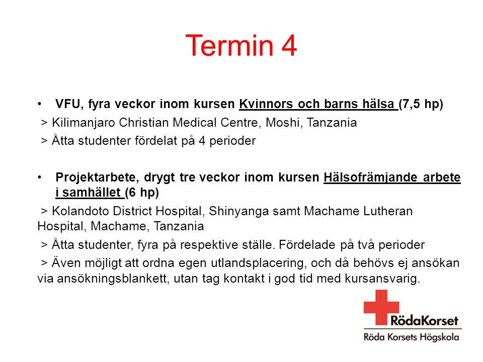 Termin 4 VFU, fyra veckor inom kursen Kvinnors och barns hälsa (7,5 hp) > Kilimanjaro Christian Medical Centre, Moshi, Tanzania > Åtta studenter förde