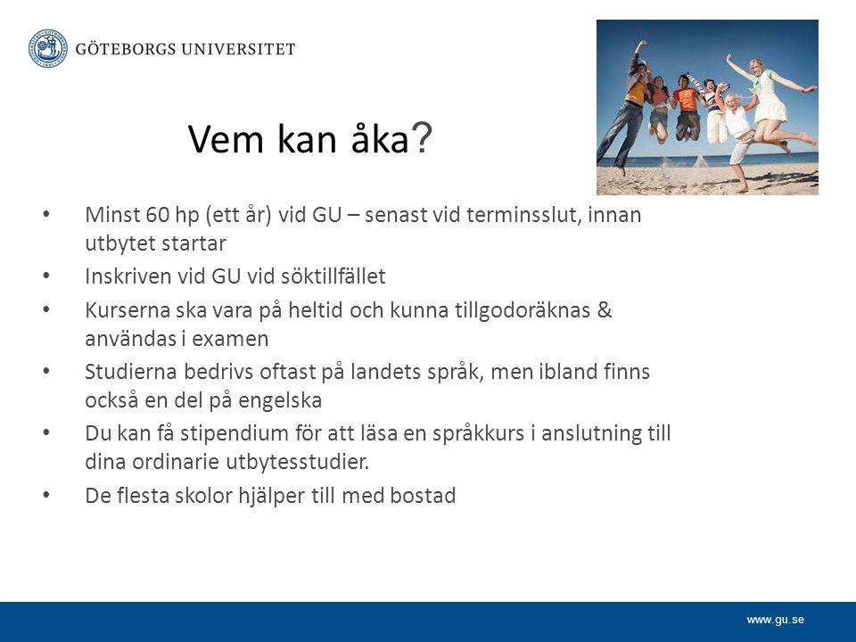www.gu.se Vem kan åka .