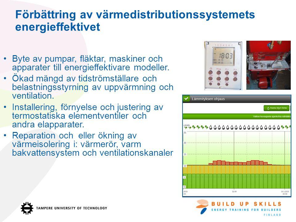 Byte av pumpar, fläktar, maskiner och apparater till energieffektivare modeller.