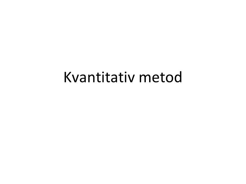 Kvantitativ metod