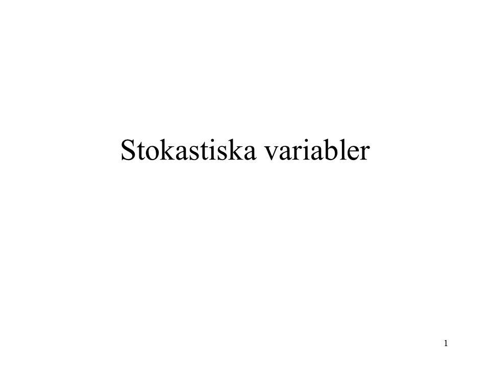 1 Stokastiska variabler