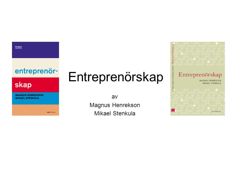 Entreprenörskap av Magnus Henrekson Mikael Stenkula