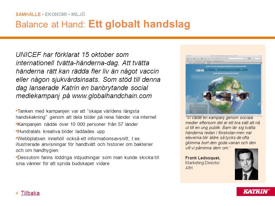UNICEF har förklarat 15 oktober som internationell tvätta-händerna-dag.