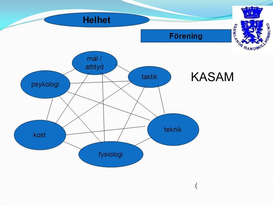 ( mål / attityd taktik teknik fysiologi kost psykologi Helhet Förening KASAM