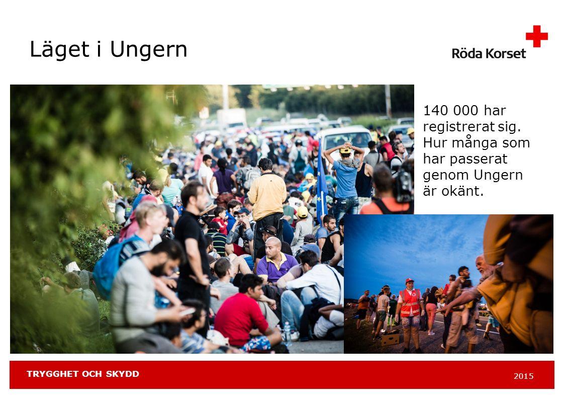 2015 TRYGGHET OCH SKYDD Läget i Ungern 140 000 har registrerat sig.
