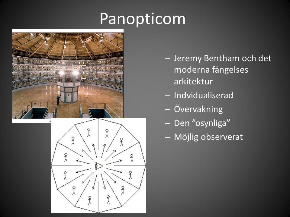 """Panopticom – Jeremy Bentham och det moderna fängelses arkitektur – Indvidualiserad – Övervakning – Den """"osynliga"""" – Möjlig observerat"""