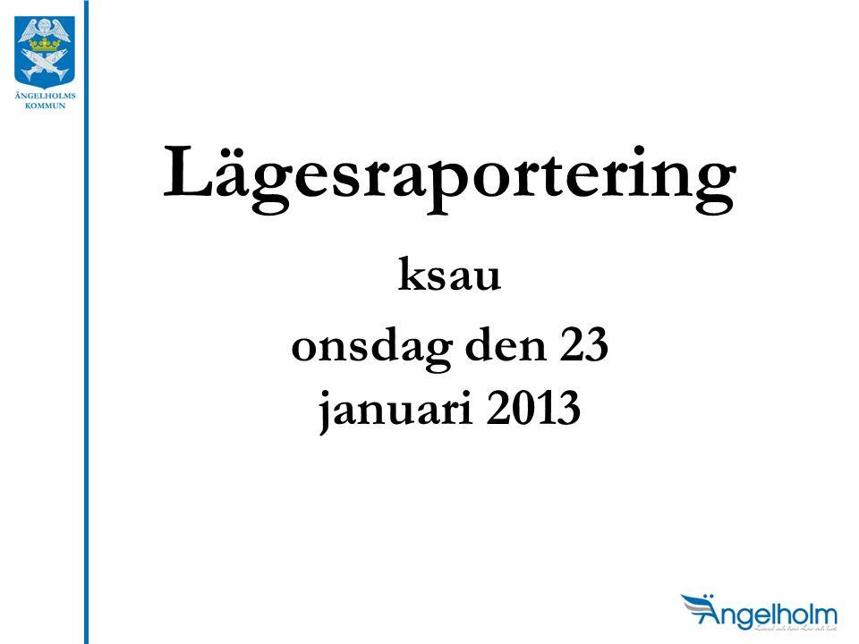 Lägesraportering ksau onsdag den 23 januari 2013