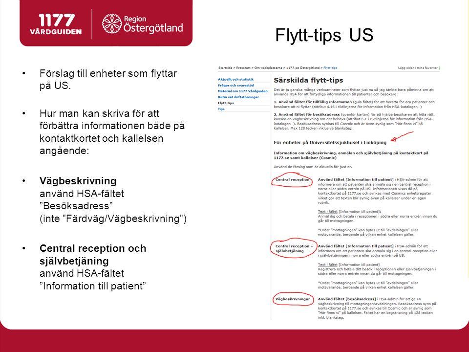 Flytt-tips US Förslag till enheter som flyttar på US.