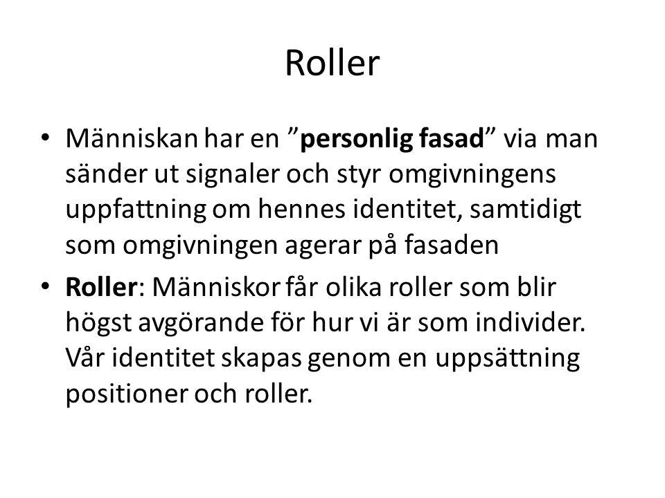 Roller Roll: Summan av alla de förväntningar som ställs på en människa i en viss situation.
