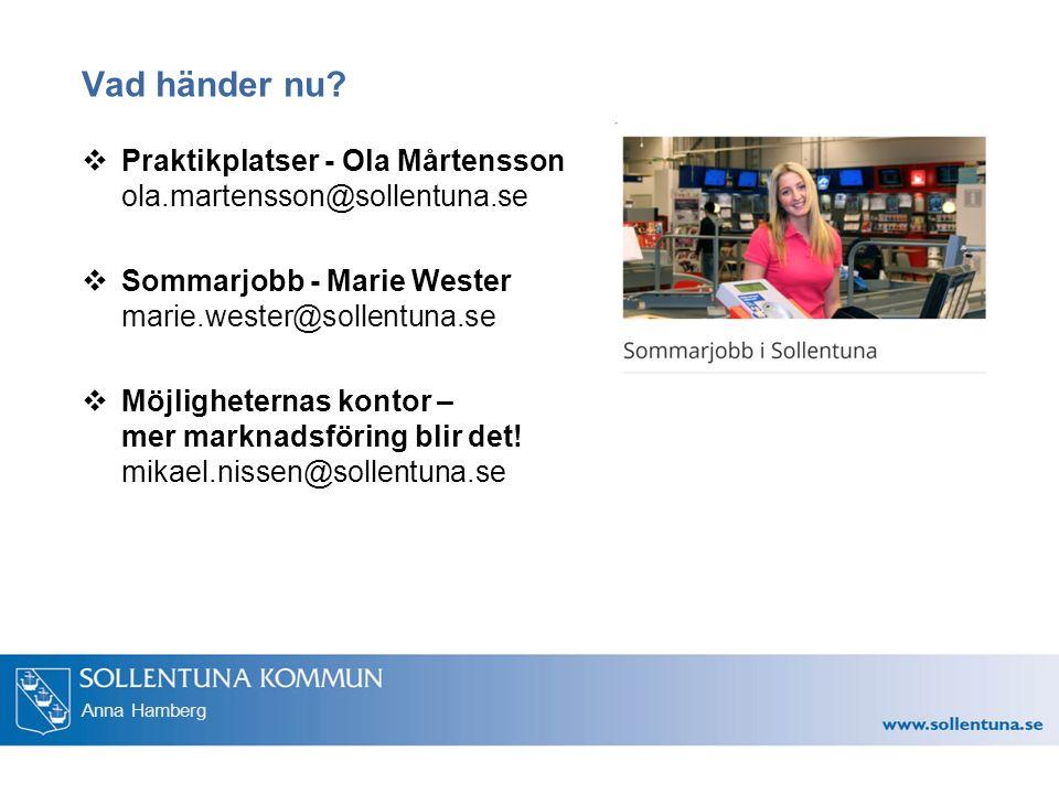 Anna Hamberg Vad händer nu.
