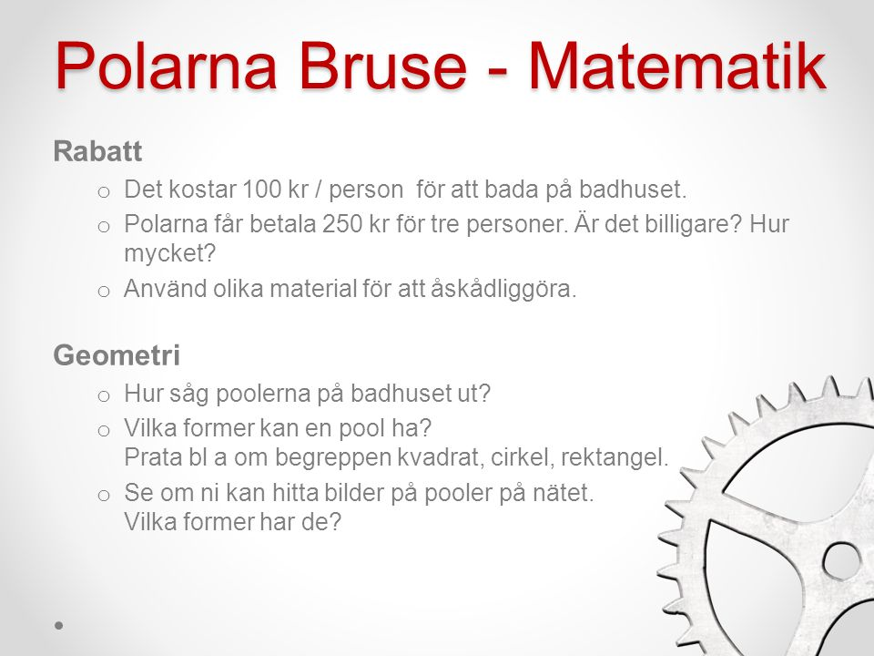 Polarna Bruse - Biologi Hygien o På badhuset får man inte bada nakenfis .