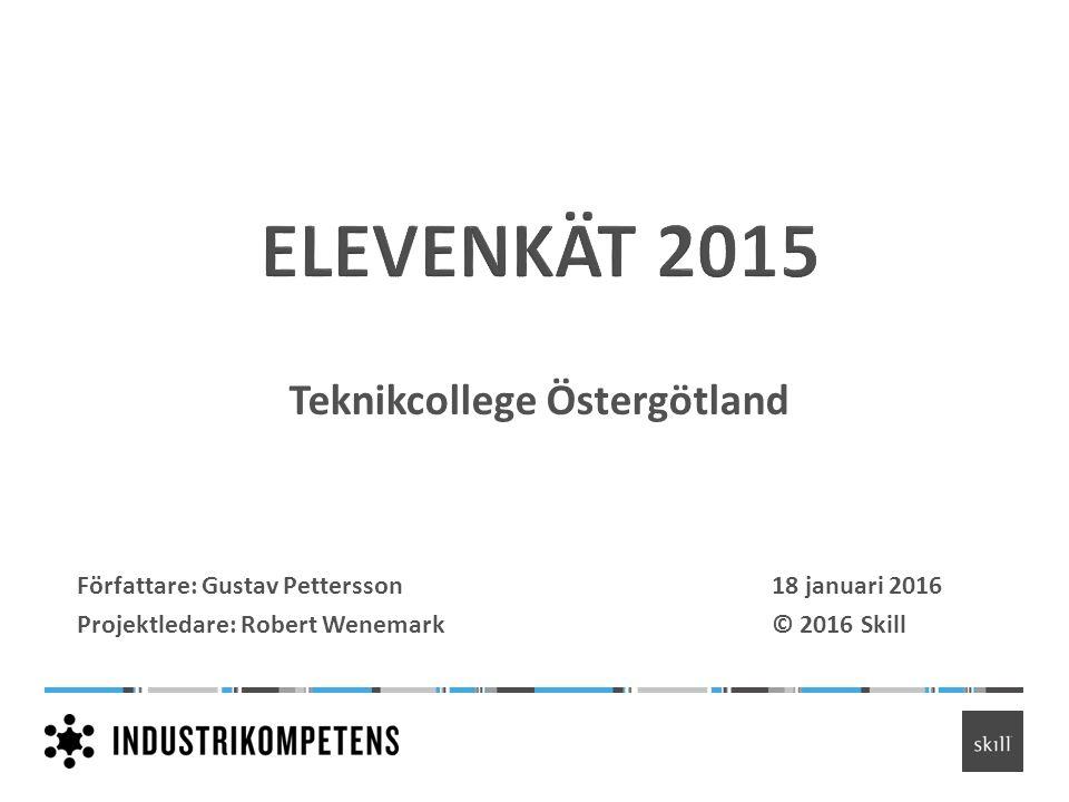 Teknikcollege Östergötland Författare: Gustav Pettersson18 januari 2016 Projektledare: Robert Wenemark© 2016 Skill
