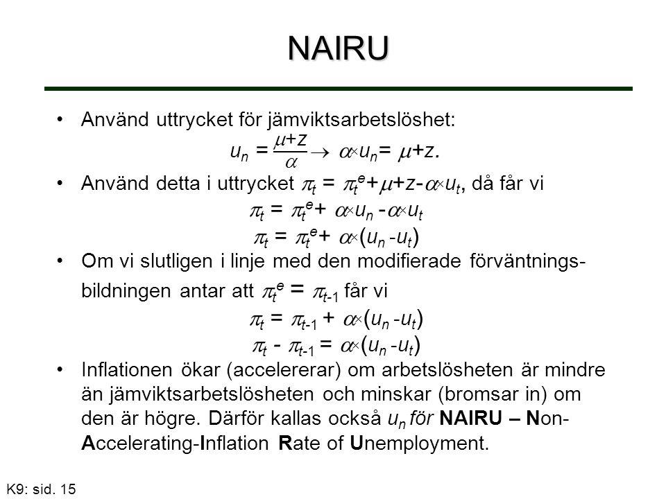 NAIRU K9: sid. 15