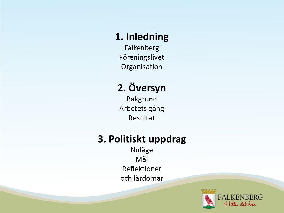 1. Inledning Falkenberg Föreningslivet Organisation 2.