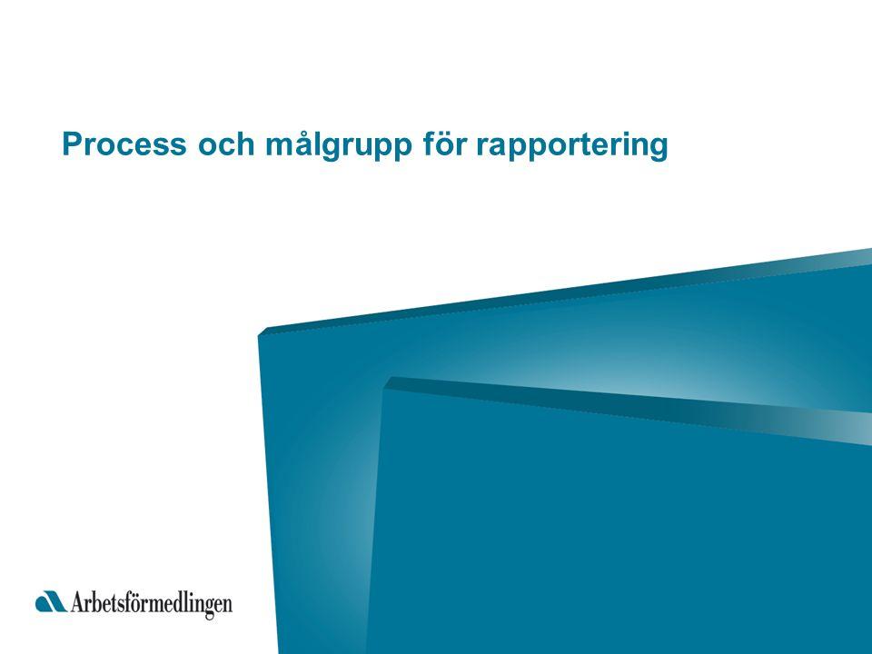 Process och målgrupp för rapportering