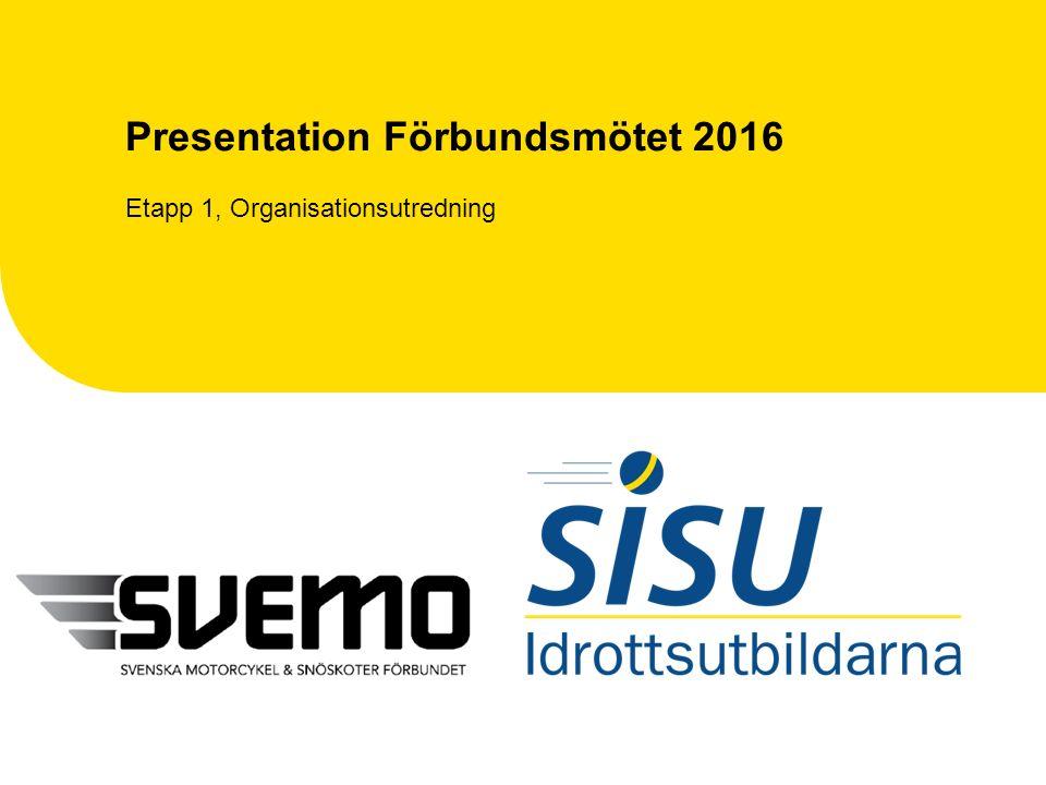 Presentation Förbundsmötet 2016 Etapp 1, Organisationsutredning