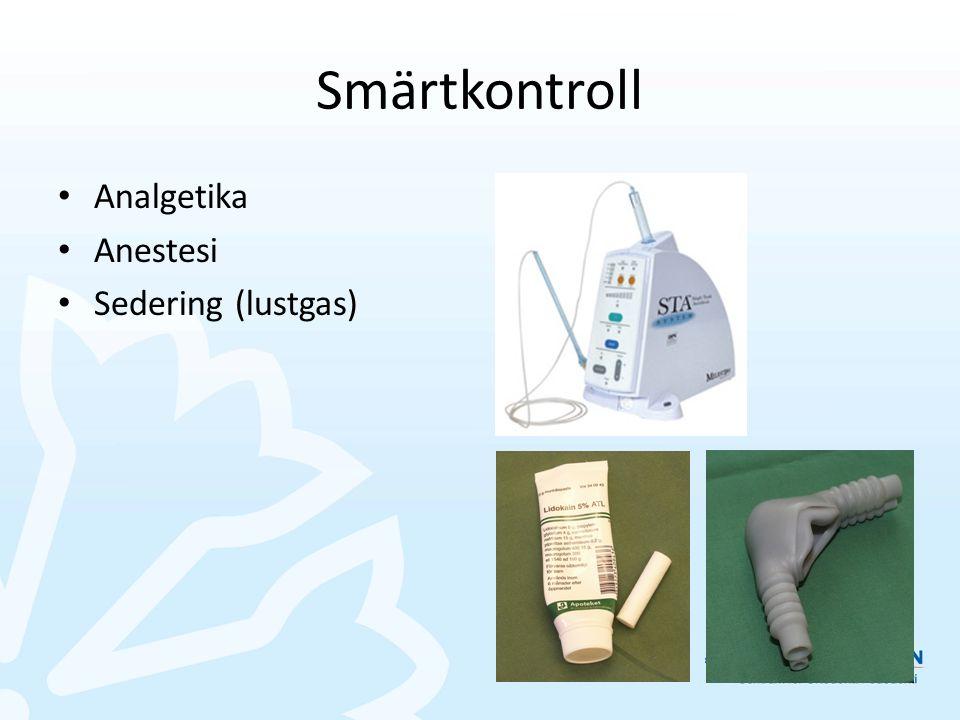 Smärtkontroll Analgetika Anestesi Sedering (lustgas)