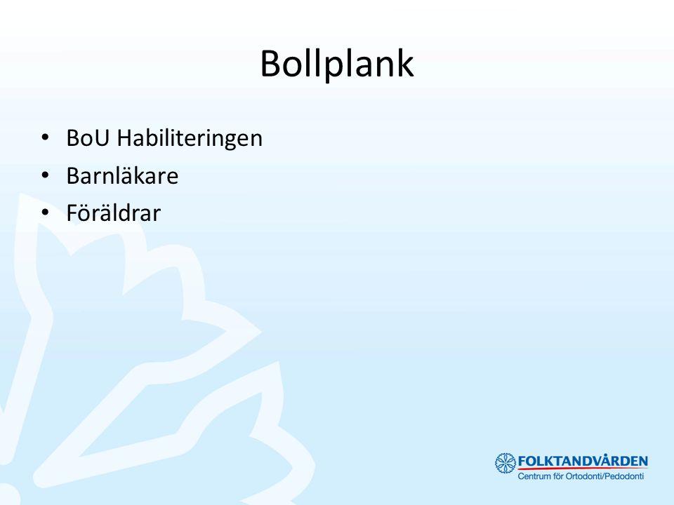 Bollplank BoU Habiliteringen Barnläkare Föräldrar