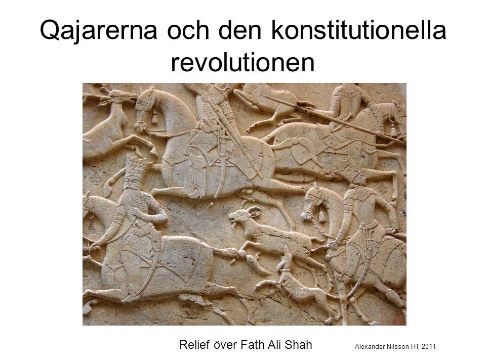 Förutsättningar för styre Svårt område för en centralmakt att styra –Bergigt och torrt landskap –Brist på bra kommunikationer –Brist på navigerbara floder Nomadstammar –Duktiga krigare –I princip autonoma –Centralmakten fick överhanden med kanoner –Senare fick nomadstammarna överhanden med handeldvapen –Varje viktig iransk dynasti sedan buyiderna (945-1055) till qajarerna (1796-1925) hade antingen stambakgrund eller kom till makten med hjälp av stamarméer
