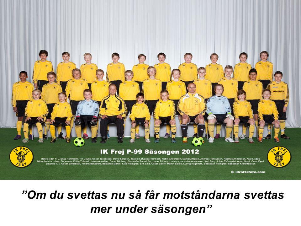 Säsongen 2011-2012 Om du svettas nu så får motståndarna svettas mer under säsongen Fredrik Nygren 2011 Här är ditt egna fysprogram som du ska träna på under sommaren.