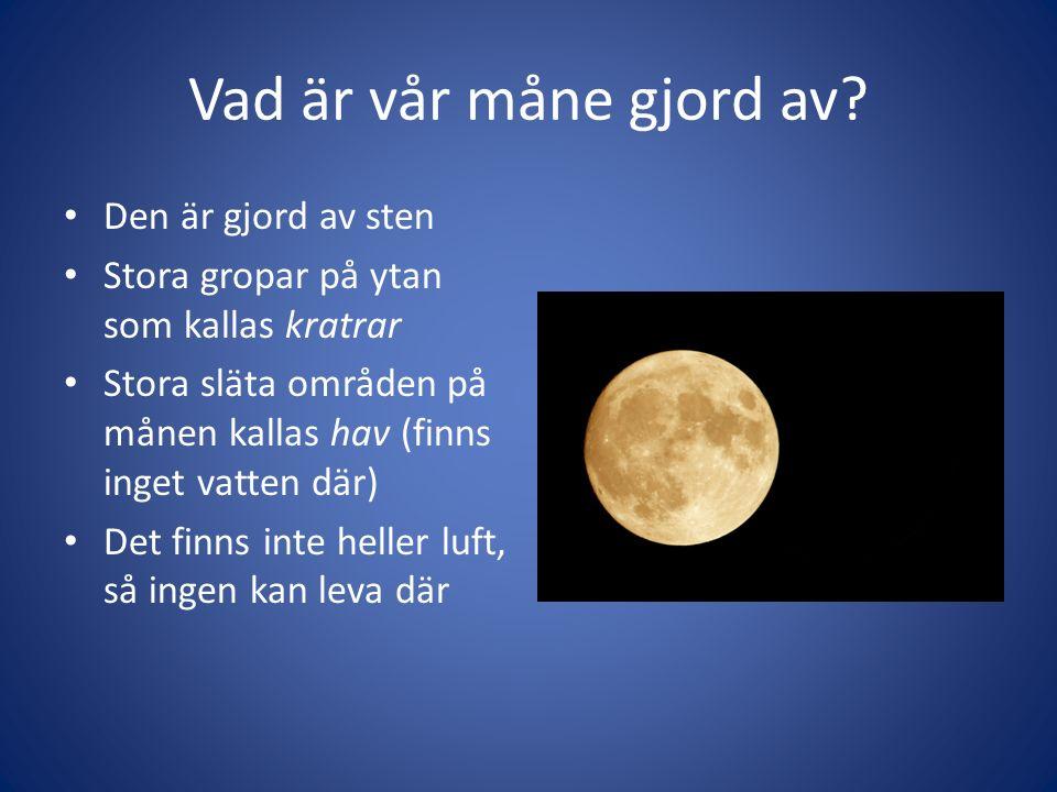 Vad är vår måne gjord av.