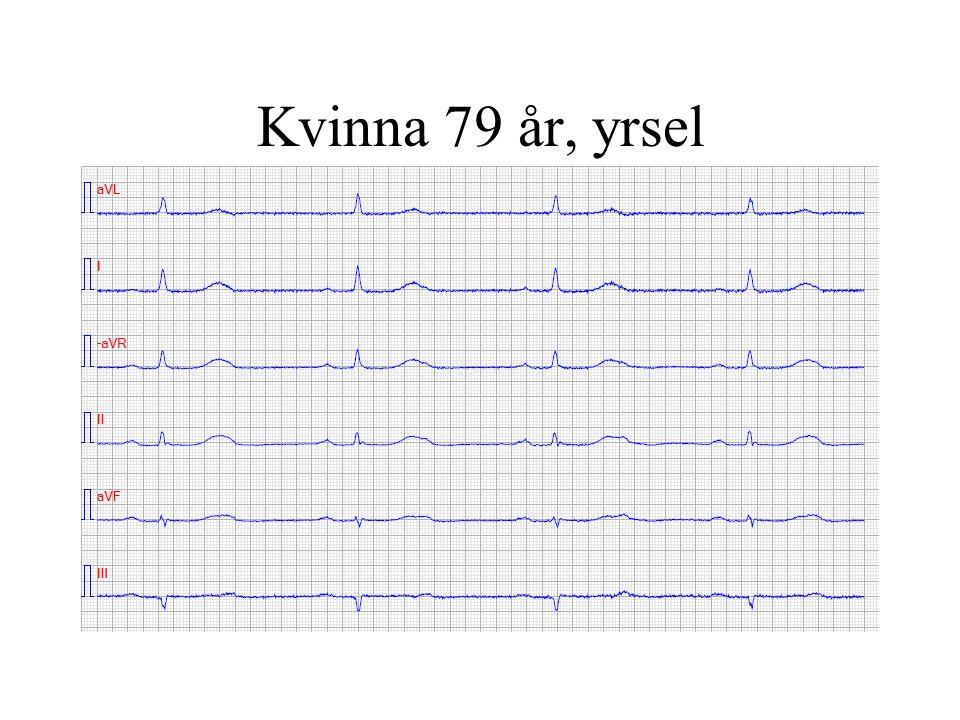 Förmaksflimmer -ej elkonvertering Asymtomatisk patient >70 år där frekvensreglering ej utvärderats Tidigt recidiv (<3mån) av elkonvertering och lindriga symtom