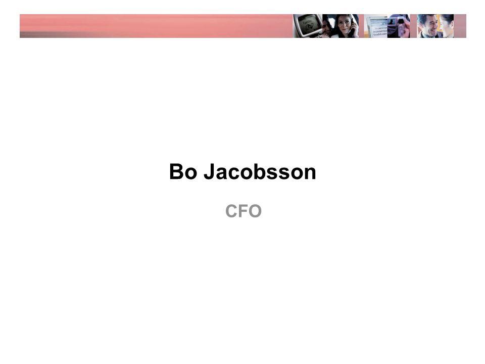 Bo Jacobsson CFO