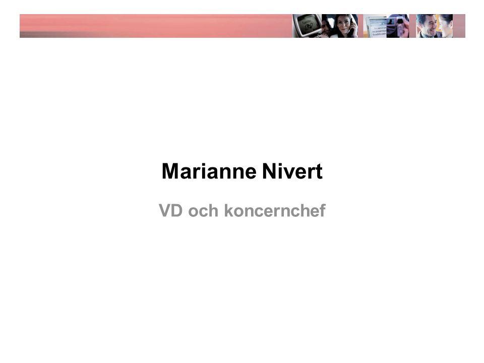 Marianne Nivert VD och koncernchef