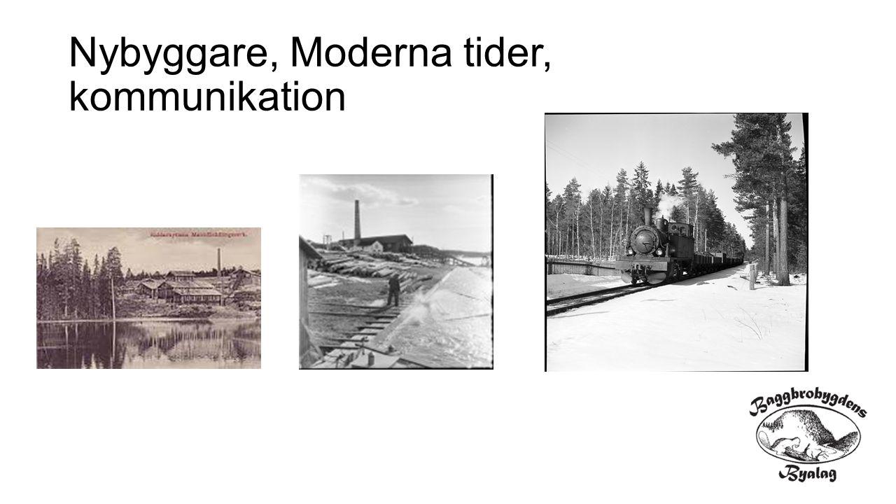 Nybyggare, Moderna tider, kommunikation