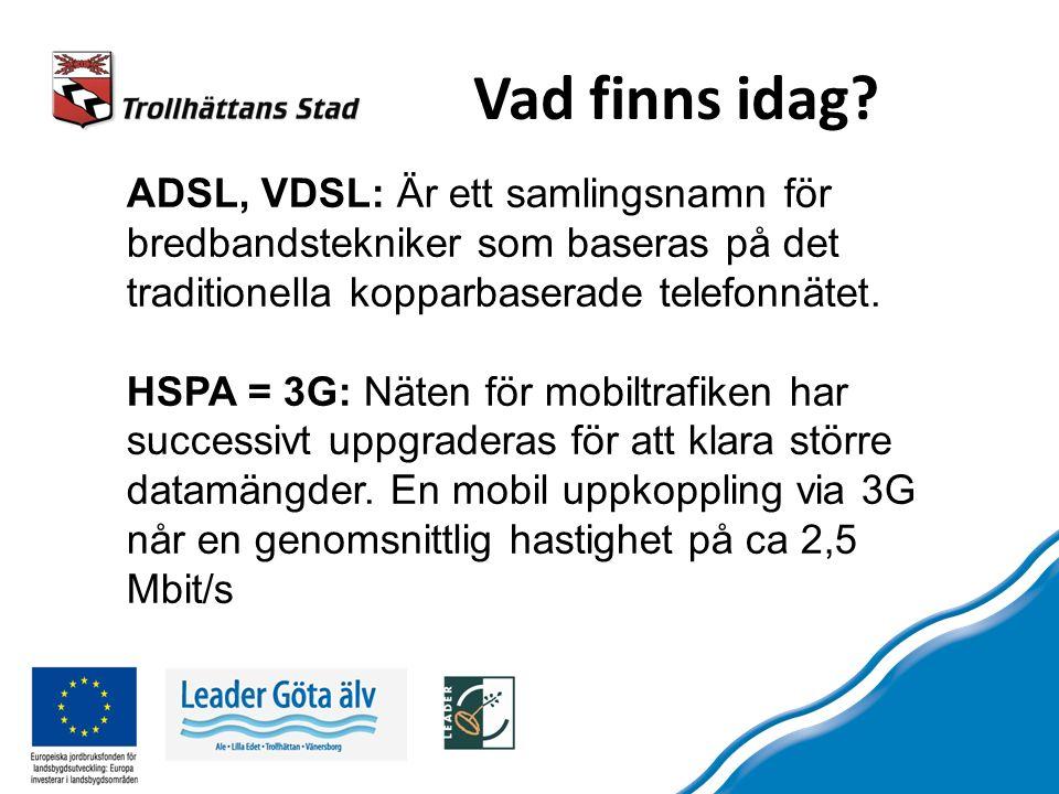 28 k 56 k 2 M 8 M 24 M Mbit/s Varför hög kapacitet?.