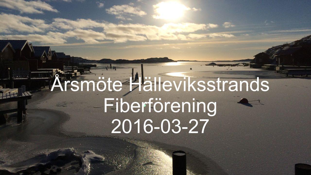 Årsmöte Hälleviksstrands Fiberförening 2016-03-27