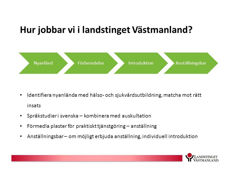 Hur jobbar vi i landstinget Västmanland.