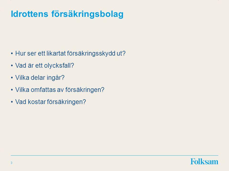 Innehållsyta Rubrikyta Idrottens försäkringsbolag Vad är ett olycksfall.