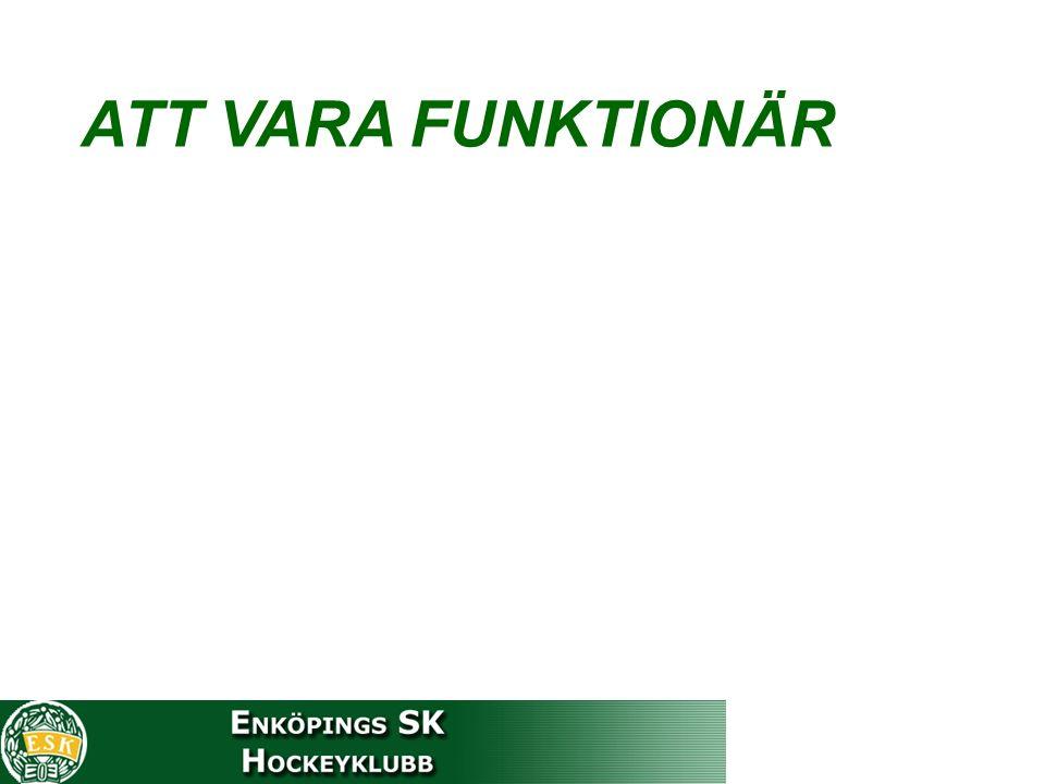 ATT VARA FUNKTIONÄR