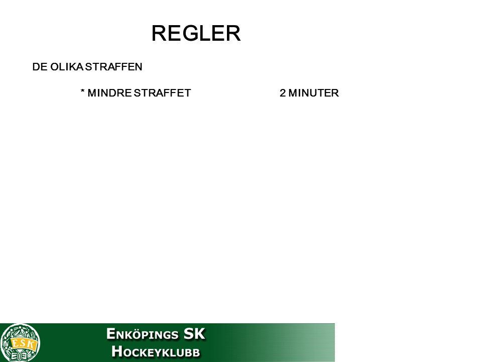 REGLER DE OLIKA STRAFFEN * MINDRE STRAFFET 2 MINUTER