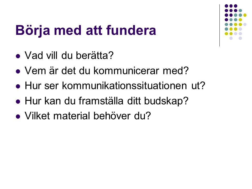 Presentationer med PowerPoint Åsa Kronkvist