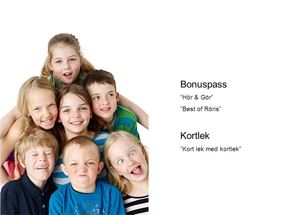 "Bonuspass ""Hör & Gör"" ""Best of Röris"" Kortlek ""Kort lek med kortlek"""
