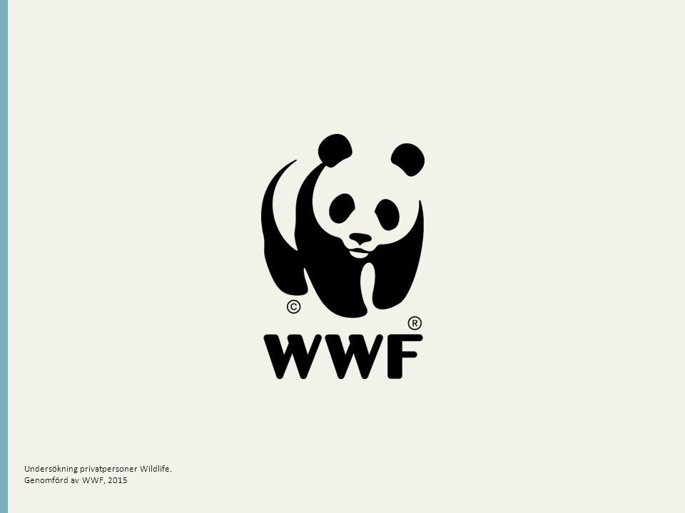 Undersökning privatpersoner Wildlife. Genomförd av WWF, 2015