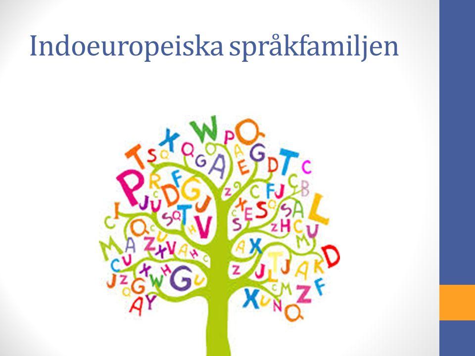 Indoeuropeiska språkfamiljen
