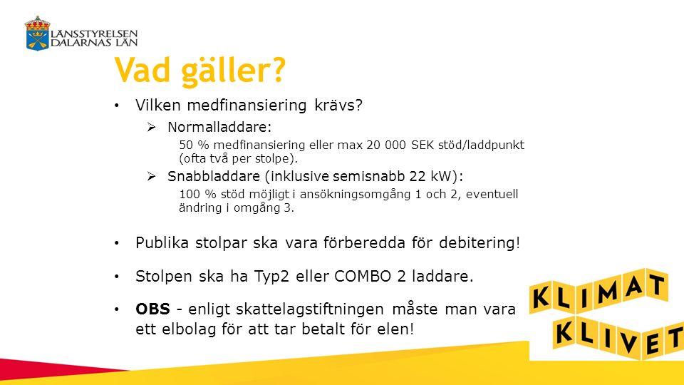 Normalladdare Placering - vägg eller stolpe Effekt: ca 3.7 kW Pris: ca 20 000 SEK (17 500 SEK ex moms via elbil Dalarna) Laddtid: 8-10 h Passar vid exempelvis bostäder och arbetsplatser!