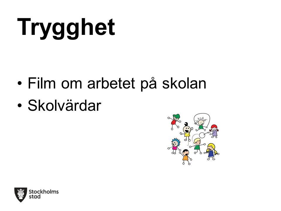 Trygghet Film om arbetet på skolan Skolvärdar