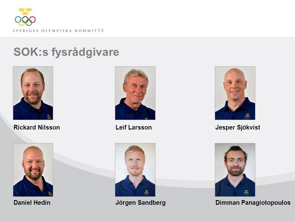 SOK:s fysrådgivare Rickard NilssonLeif LarssonJesper Sjökvist Daniel HedinJörgen SandbergDimman Panagiotopoulos