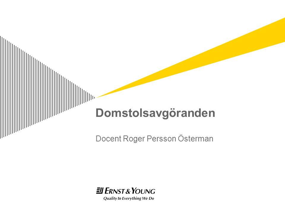 Domstolsavgöranden Docent Roger Persson Österman