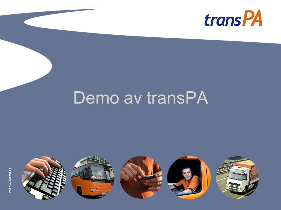 www.transpa.se Demo av transPA